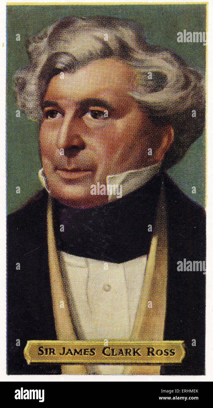 Sir James Clark Ross -  English naval officer and explorer. JCR: April 15, 1800 – April 3, 1862. Explored the Arctic - Stock Image
