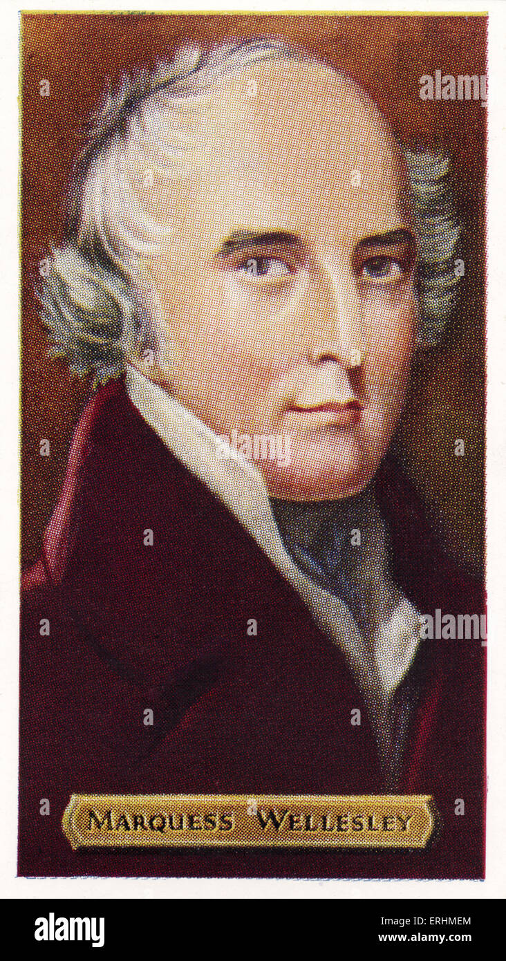 Richard Colley Wellesley, 1st Marquess Wellesley - British politician. RCW: 20 June 1760 - 26 September 1842. Important - Stock Image