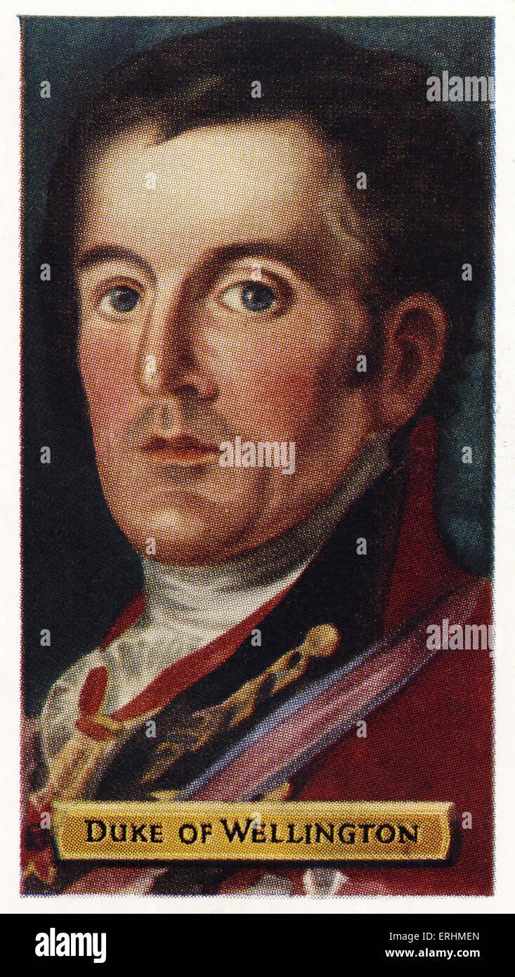 Arthur Wellesley, 1st Duke of Wellington - Prime Minister of England AW: c. 1 May 1769 – 14 September 1852. Also Stock Photo