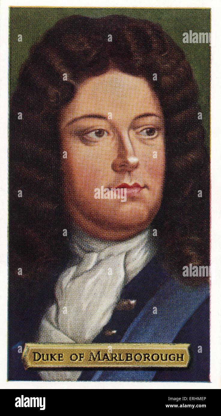 John Churchill, 1st Duke of Marlborough - British soldier. JC: 26 May 1650 – 27 June 1722. - Stock Image