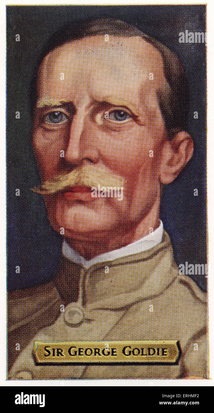 Sir George Goldie - English colonial administrator. GG: 20 May 1846 – 20 August 1925.  Played a major role in the - Stock Image