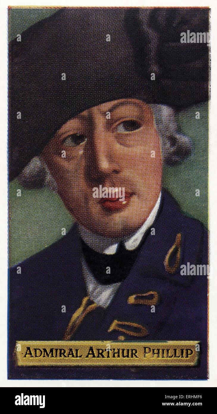 Arthur Phillip - English admiral. AP: 11 October 1738 – 31 August 1814.  Founded Sydney, Australia. - Stock Image