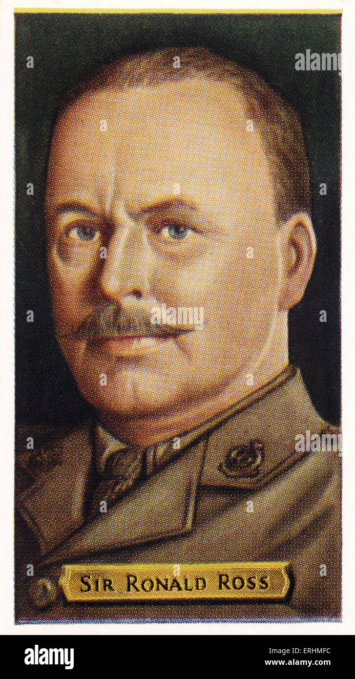 Sir Ronald Ross - Scottish physician RR:  13 May 1857 – 16 September 1932. Received the Nobel Prize for medicine - Stock Image
