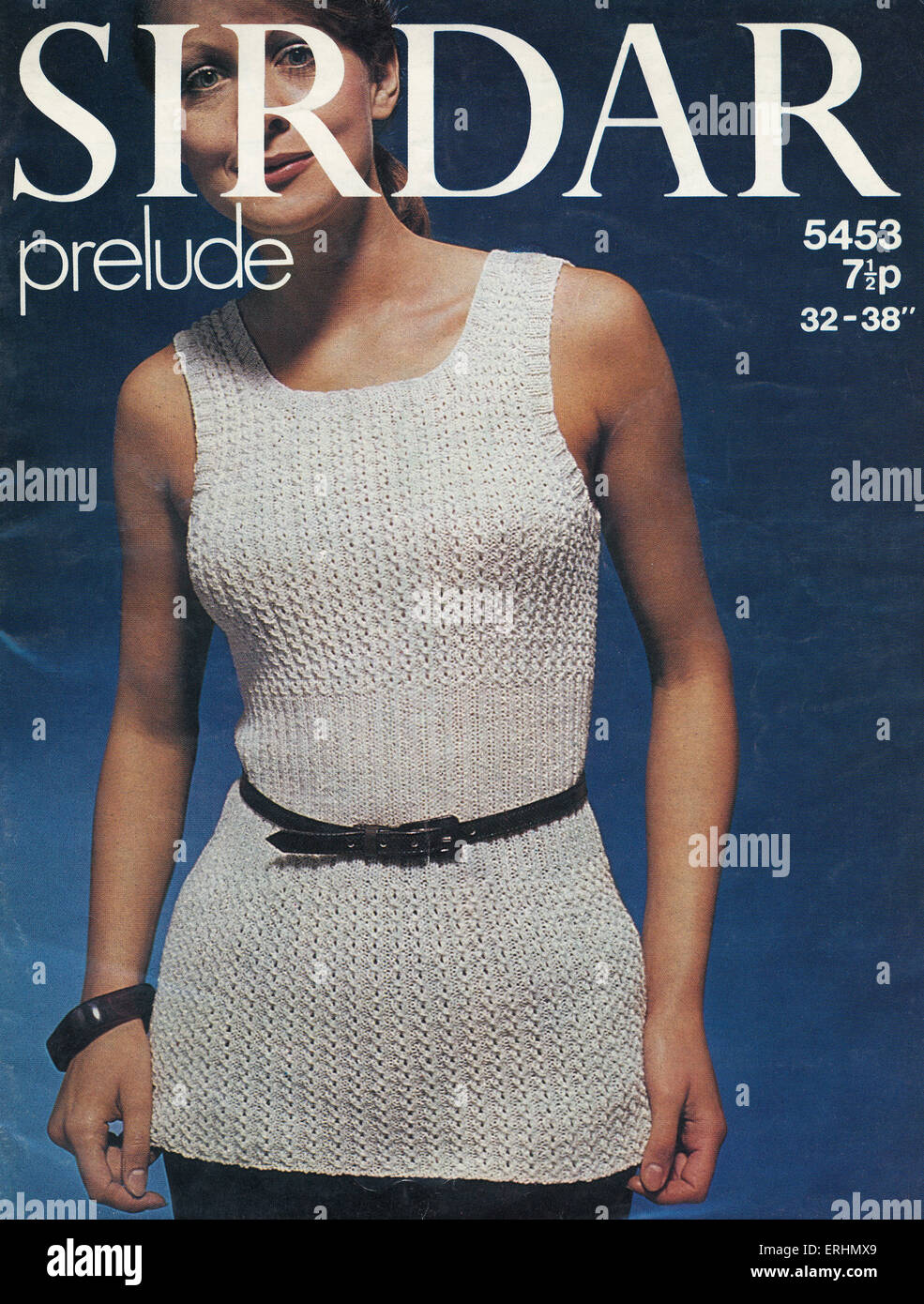 Sirdar Prelude Knitting Pattern Woman Wearing A Knitted Sweater