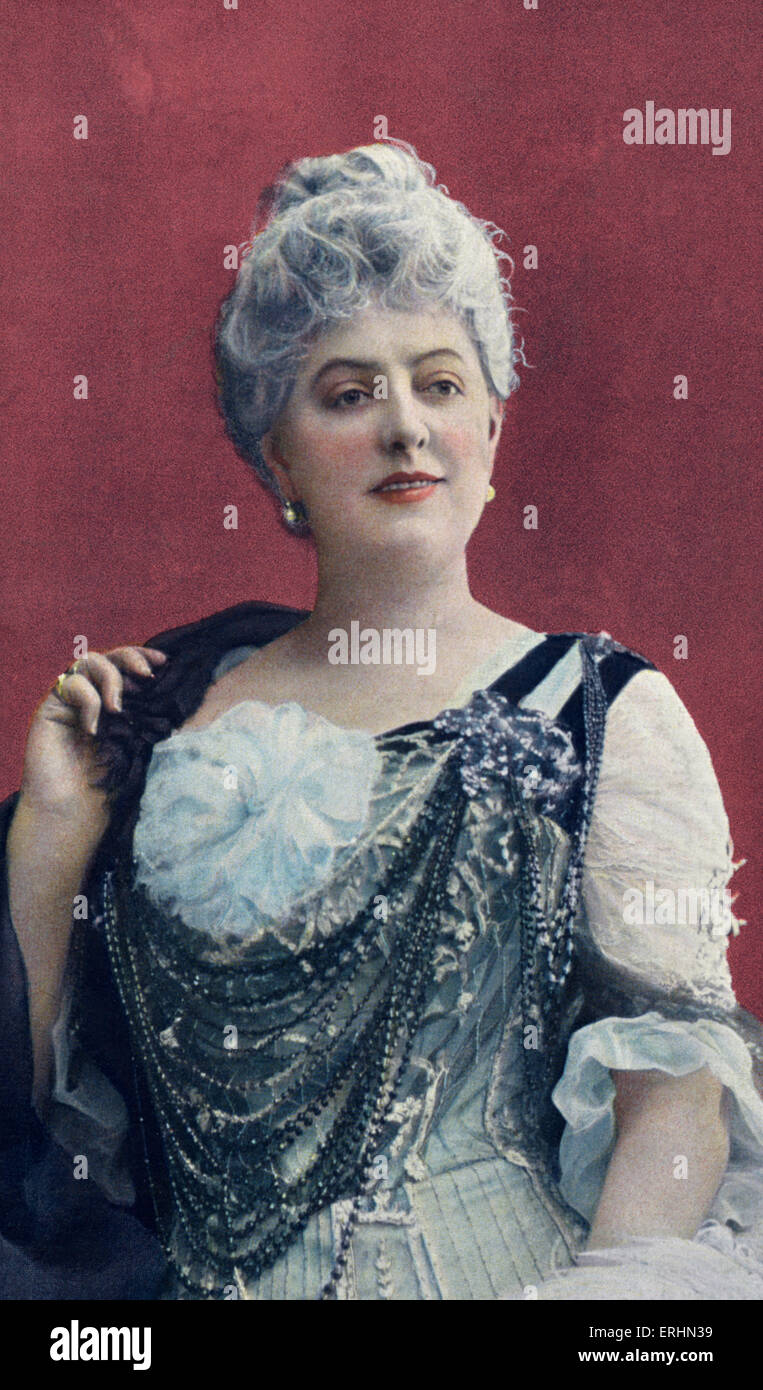 Marie Magnier in role of Madame Joulin in Les Deux Ècoles - Stock Image