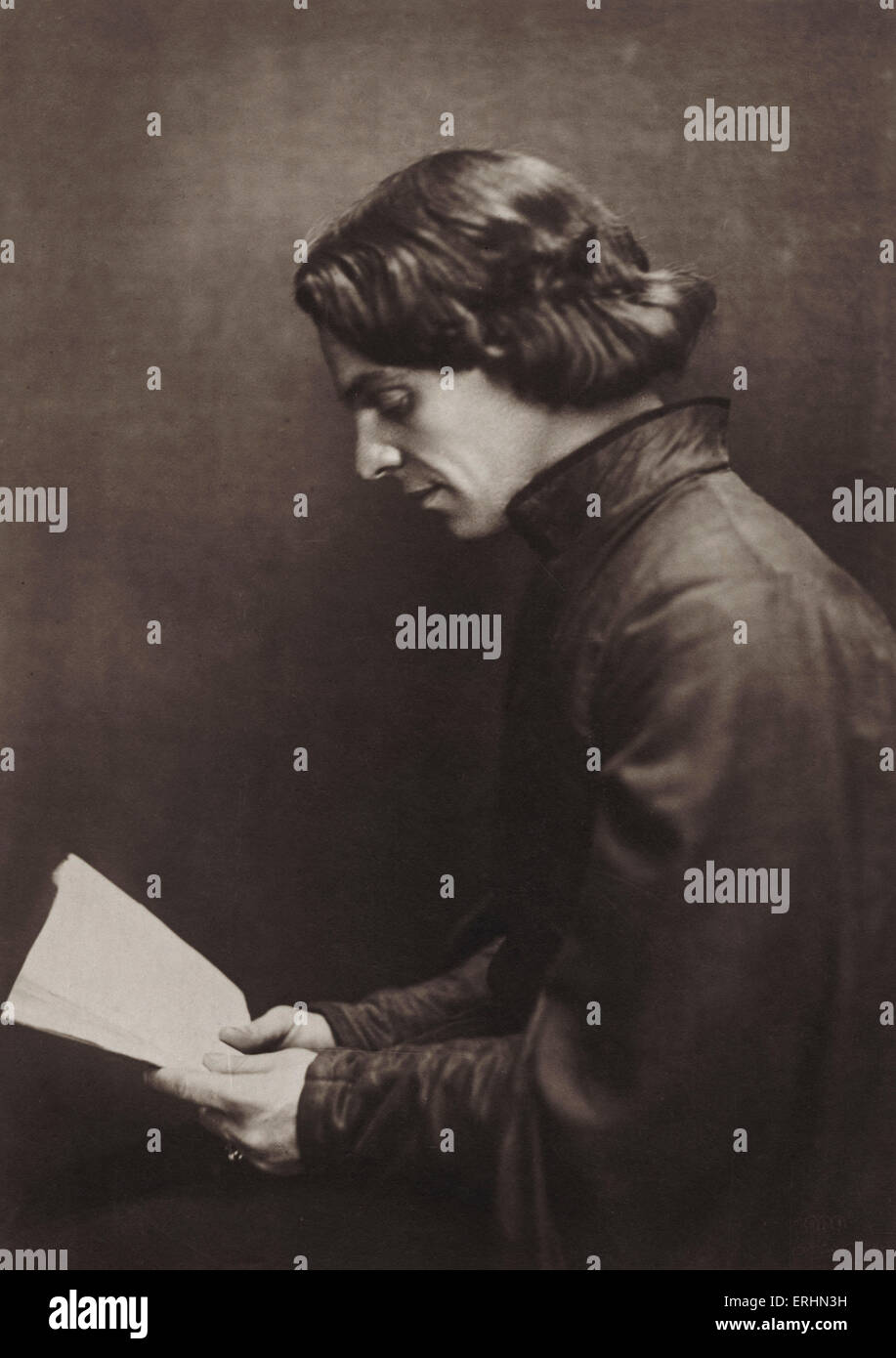 Alexander Moissi, in role as Hamlet by Shakespeare. Italian born German actor and singer, 1879-1935.  Theatre. Photo - Stock Image