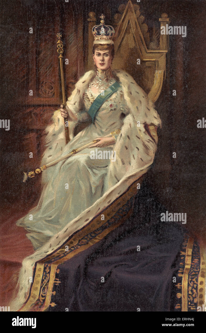 Queen Mary, consort Of King George V in the year of her coronation 1910. Wife of King George V, who reigned from - Stock Image
