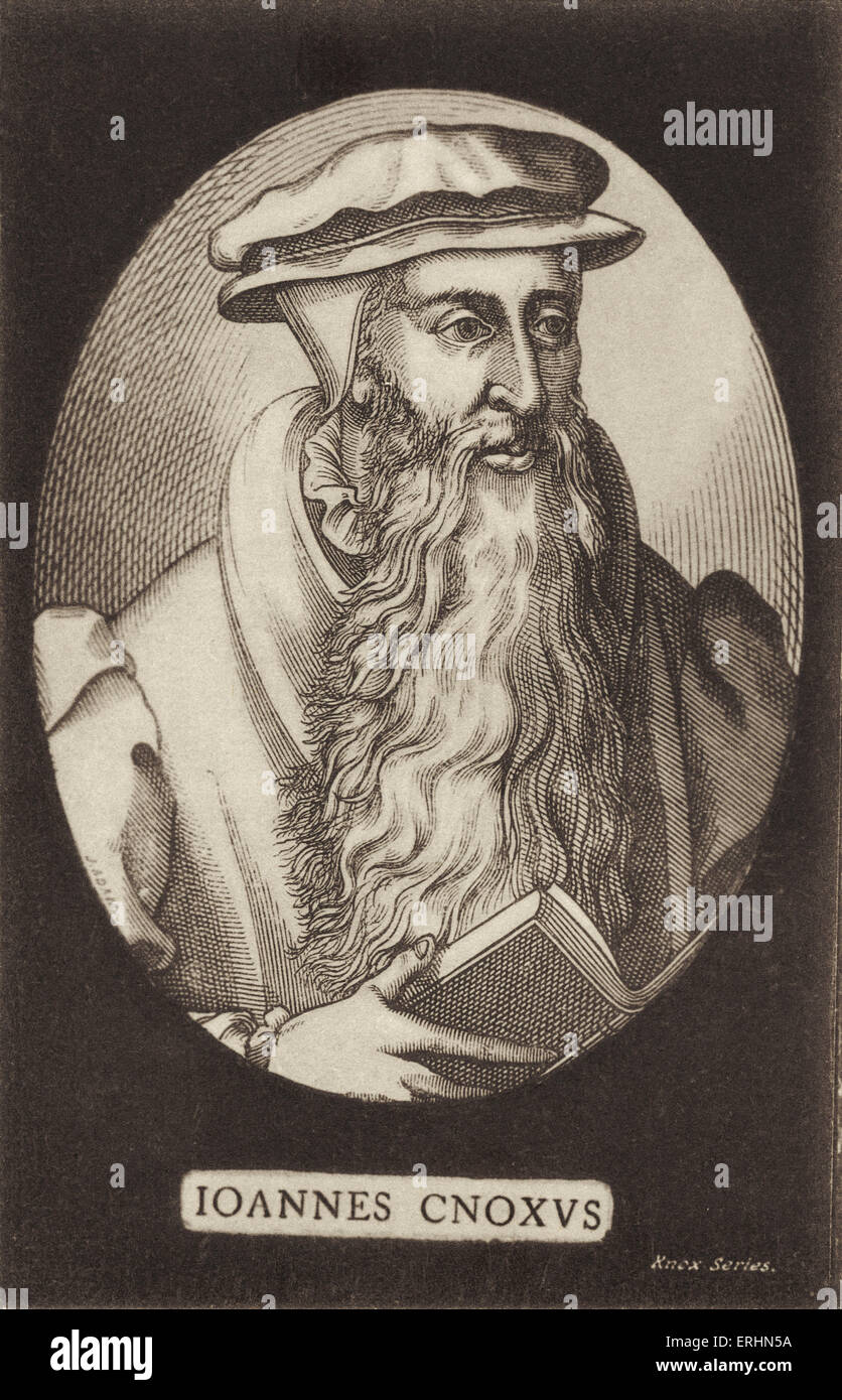 John Knox-  Scottish reformer and protestant leader. 1505-1572 - Stock Image