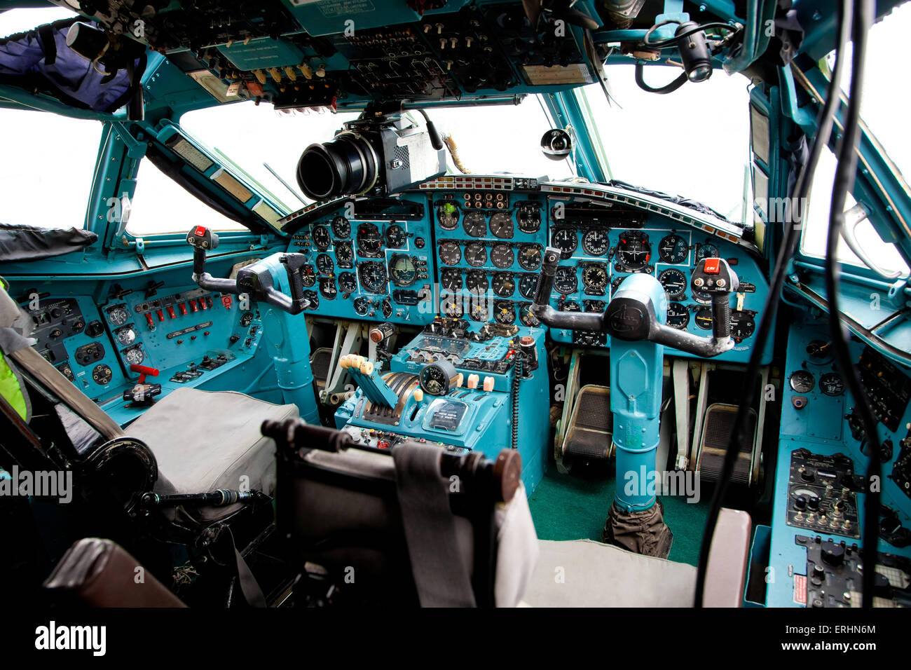 Inside Airplane Pilot Cabin Stock Photos Amp Inside Airplane