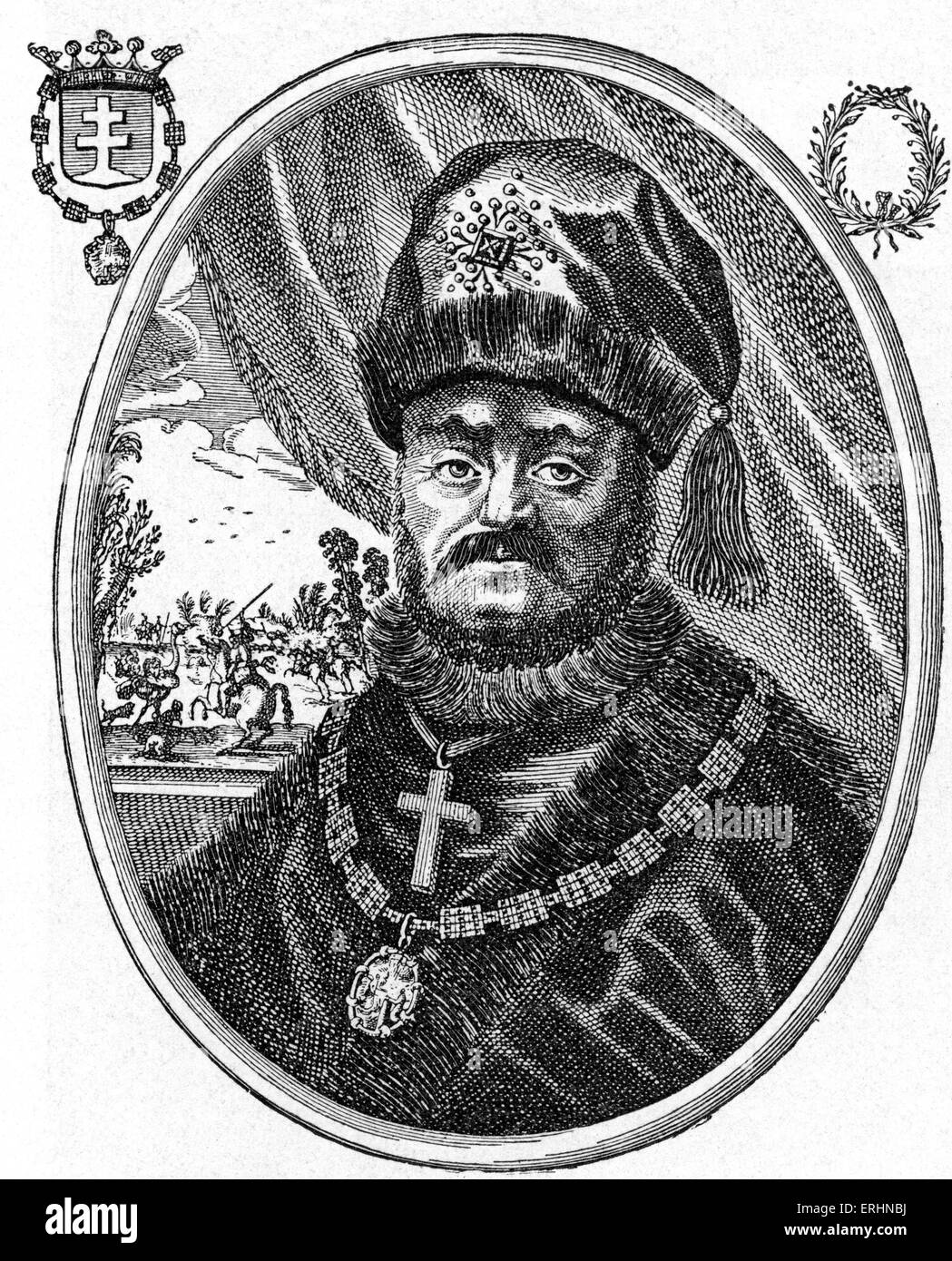 Michael of Russia - first Russian czar / tsar of the house of Romanov. Mikhail Feodorovich Romanov: 12 July 1596 - Stock Image