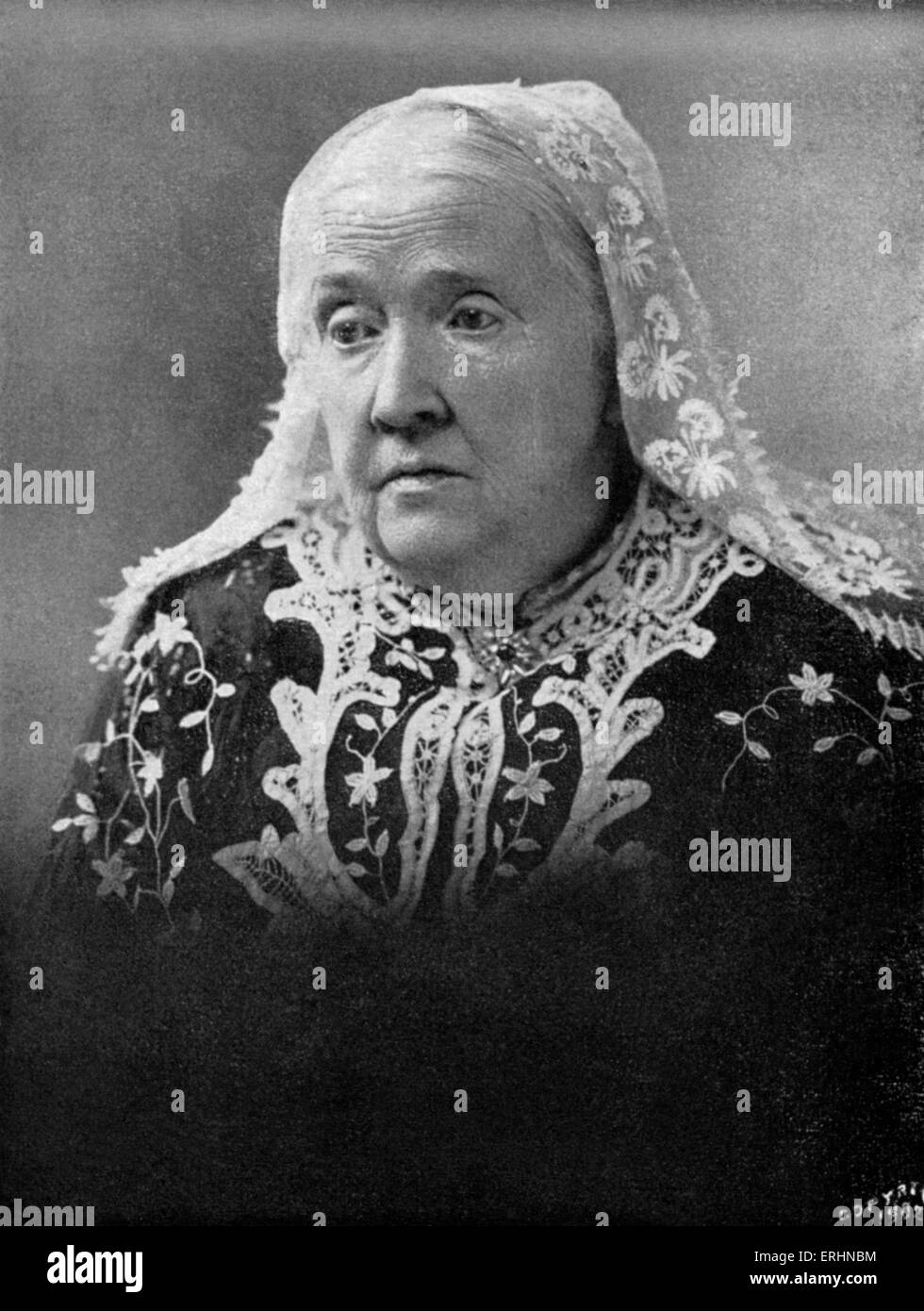 Julia Ward Howe - portrait Poet who wrote 'The Battle Hymn of the Republic', also American abolitionist, - Stock Image
