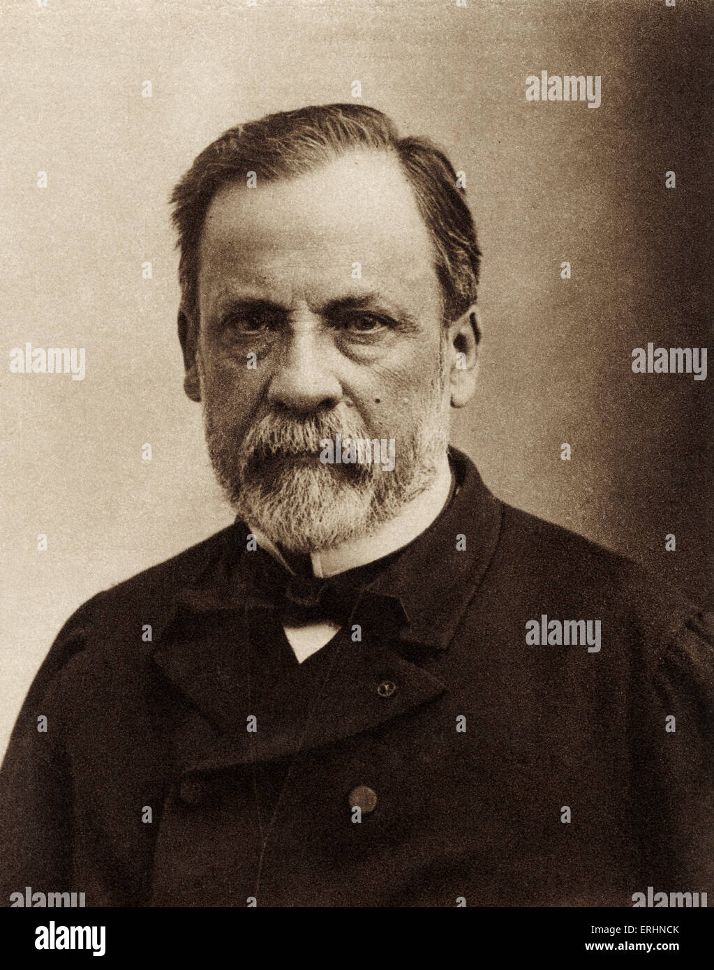 Louis Pasteur - portrait - French chemist, biologist and founder of modern bacteriology -27 December 1822 - 28 September - Stock Image