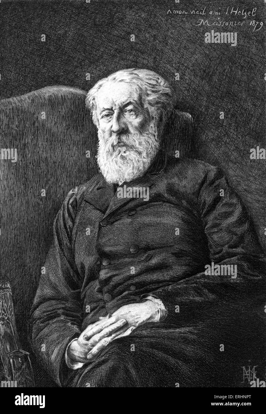 Pierre-Jules Hetzel by Meissonier 1879. (January 15, 1814 – March 17, 1886)   French editor and publisher. When - Stock Image
