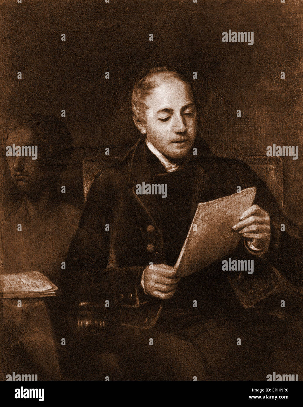 John  Murray II British publisher. Famous for publishing work by Lord Byron. 1778 - 1884 - Stock Image