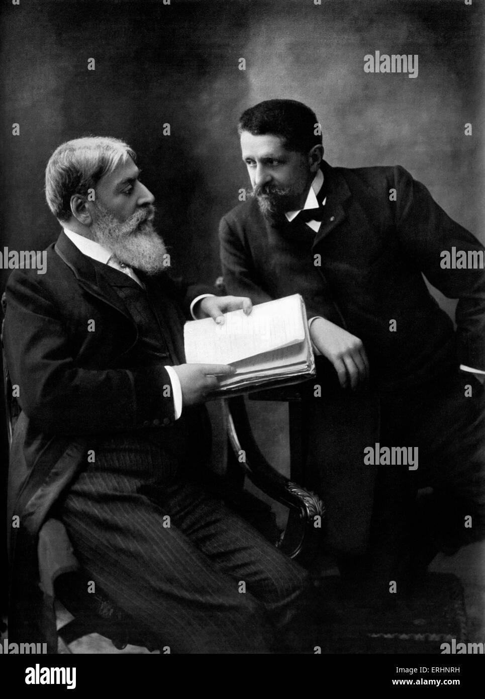 Mounet-Sully and Pierre Barbier Collaborators for La Vieillesse de Don Juan - written in verse, performed1906.(Jean) - Stock Image