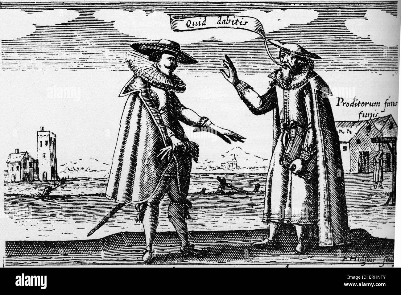 C.J.S Thompson 's novel 'Poisons and Poisoners'- engraving, 1627. Caption reads 'Lopez compounding - Stock Image