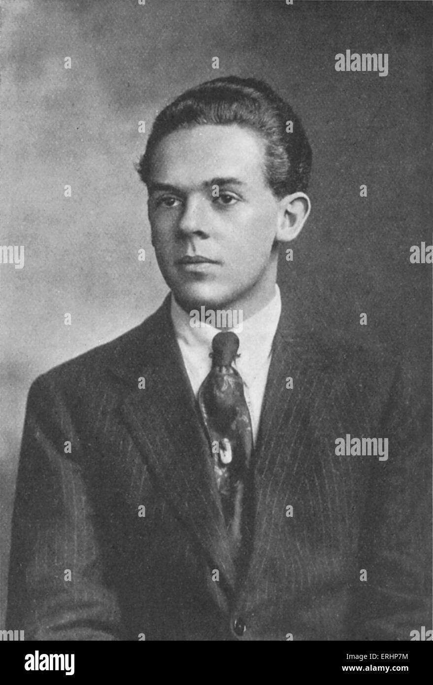 John Hancock - British artist and  poet, (1896 - 1918) drowned himself. - Stock Image