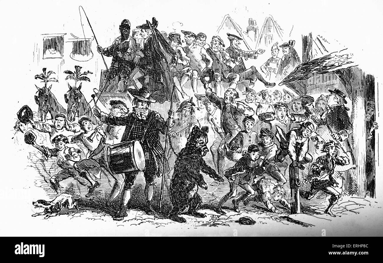 Charles Dickens's 'A tale of two cities' : Caption reads:  The spy's funeral -The crowd, accompanied - Stock Image