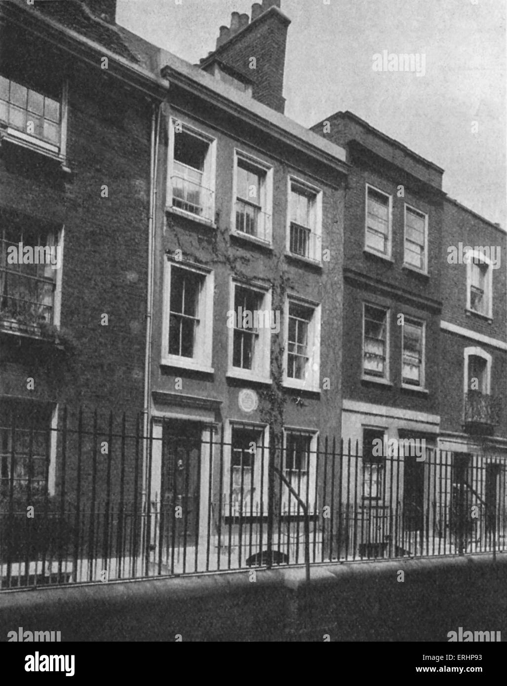 Leigh Hunt - Leigh Hunt 's house in Upper Cheyne Row, Chelsea, London. Lived here in 1894 during a time of financial - Stock Image