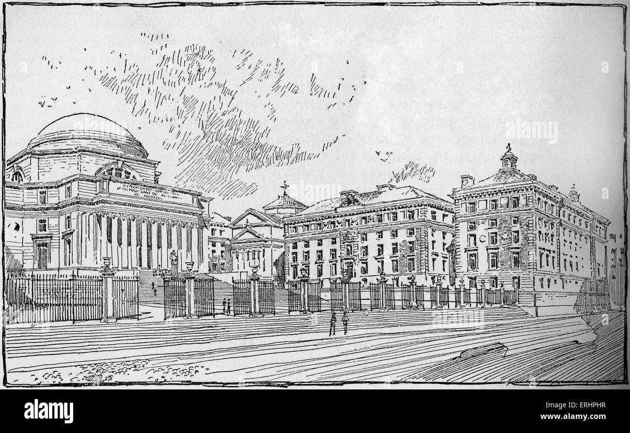 Columbia University Library - late nineteenth century. New York, United States of America. - Stock Image