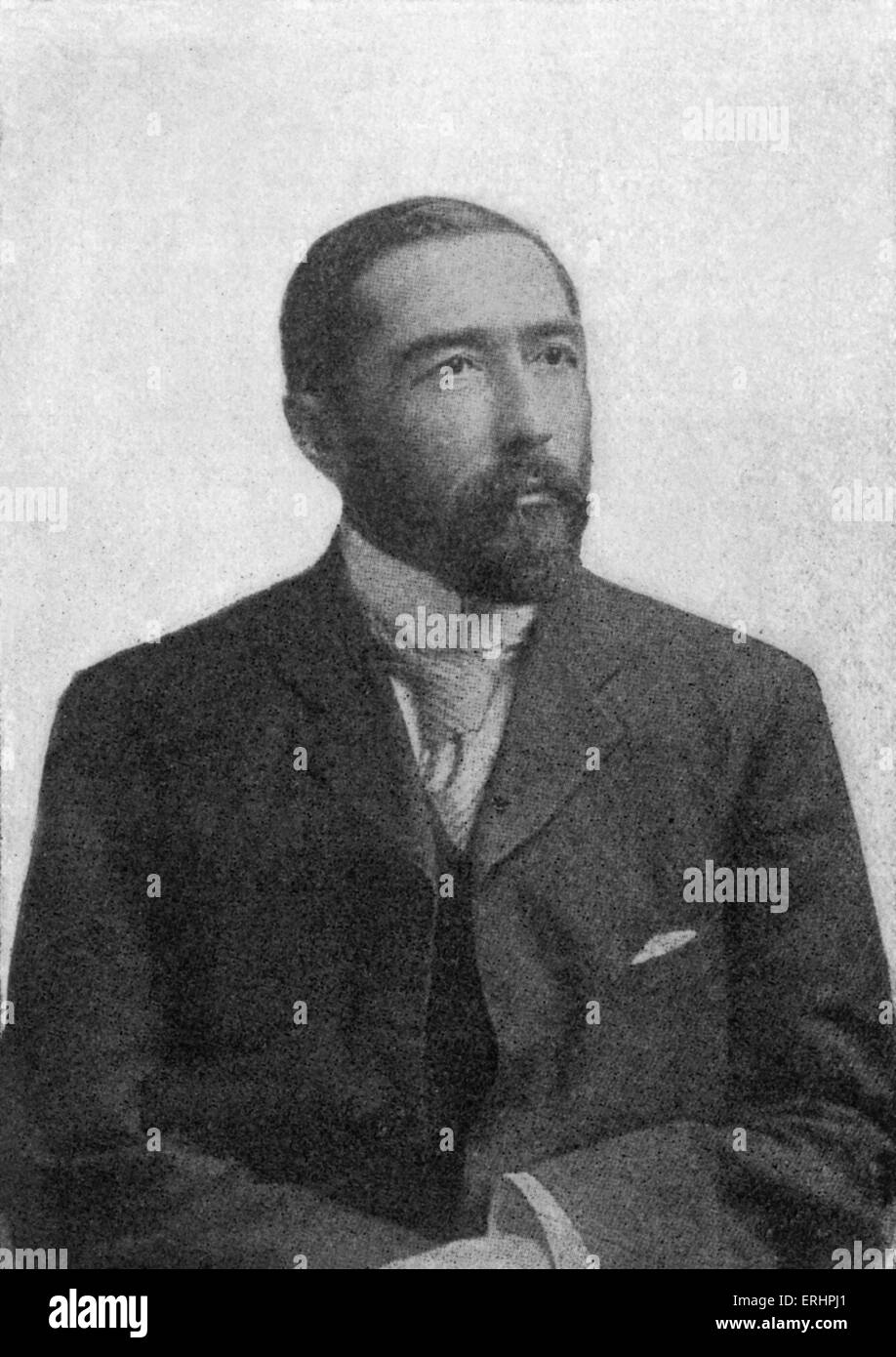 Joseph Conrad - Polish born English novelist: 3 December 1857 – 3 August 1924.  Illustration in Bookman, August - Stock Image
