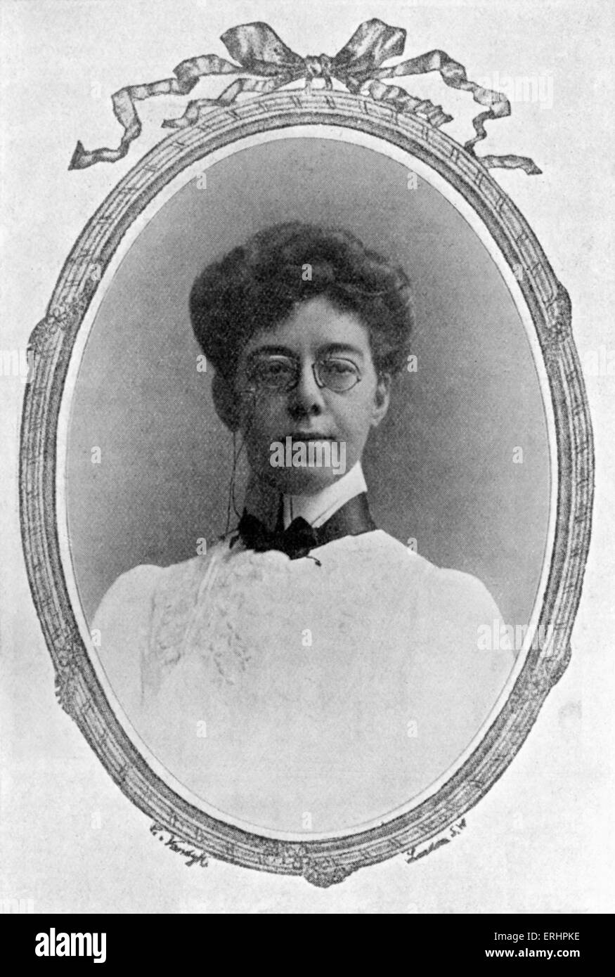 Mary Angela Dickens - - grand daughter of Charles Dickens. English novelist. 1861- 1946. - Stock Image