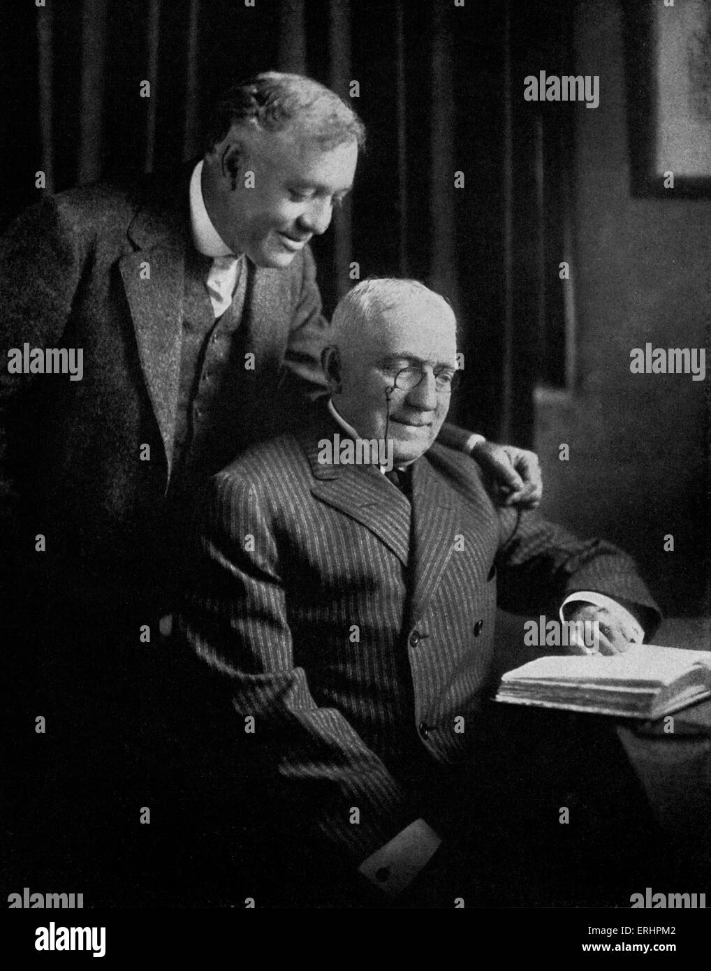 Otis Skinner and James Whitcomb Riley- in Indianapolis, USA.  OS: American actor, 28 June 1858 - 4 January 1942. - Stock Image
