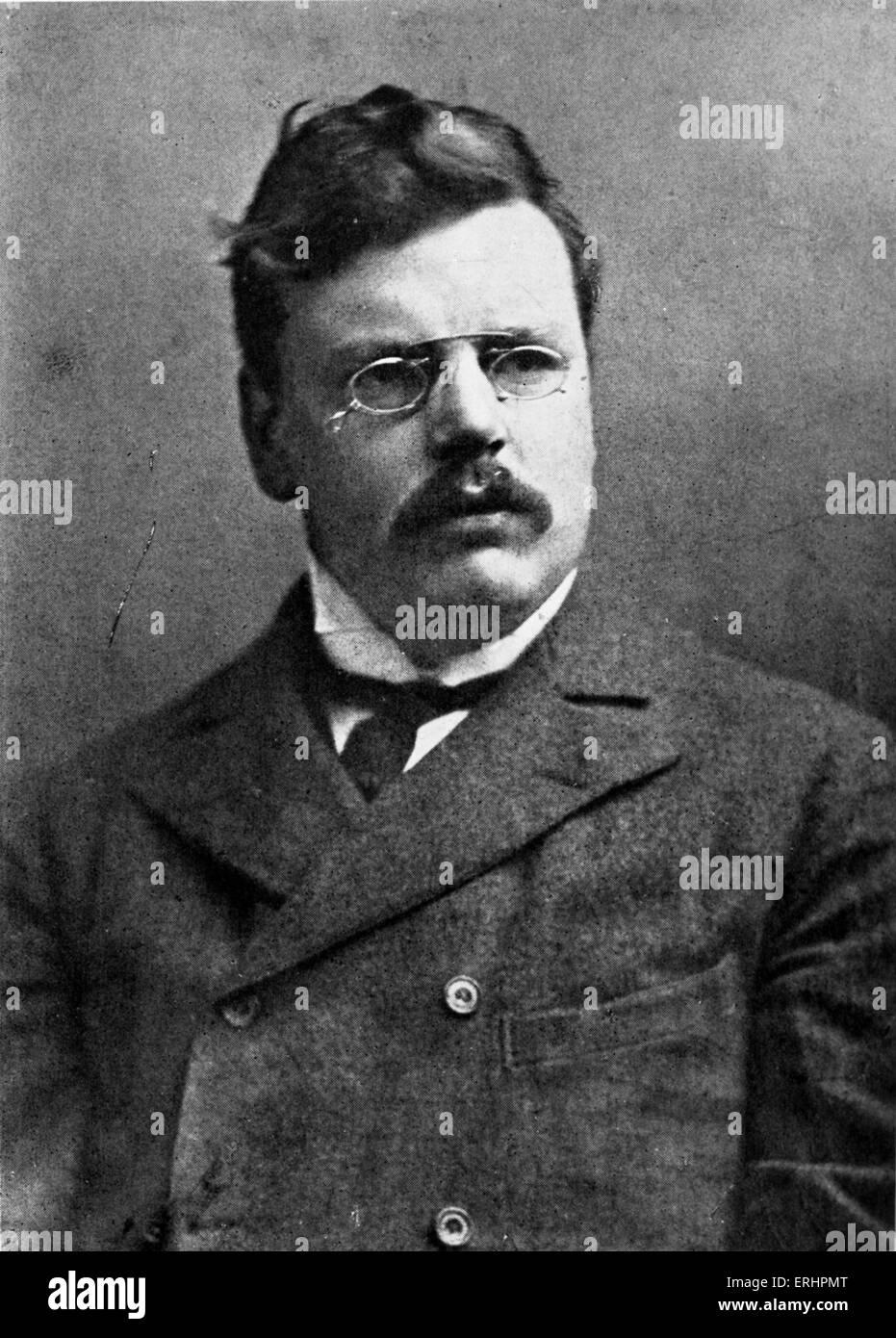 Gilbert Keith Chesterton - English writer: 29 May 1874 - 14 June 1936. - Stock Image