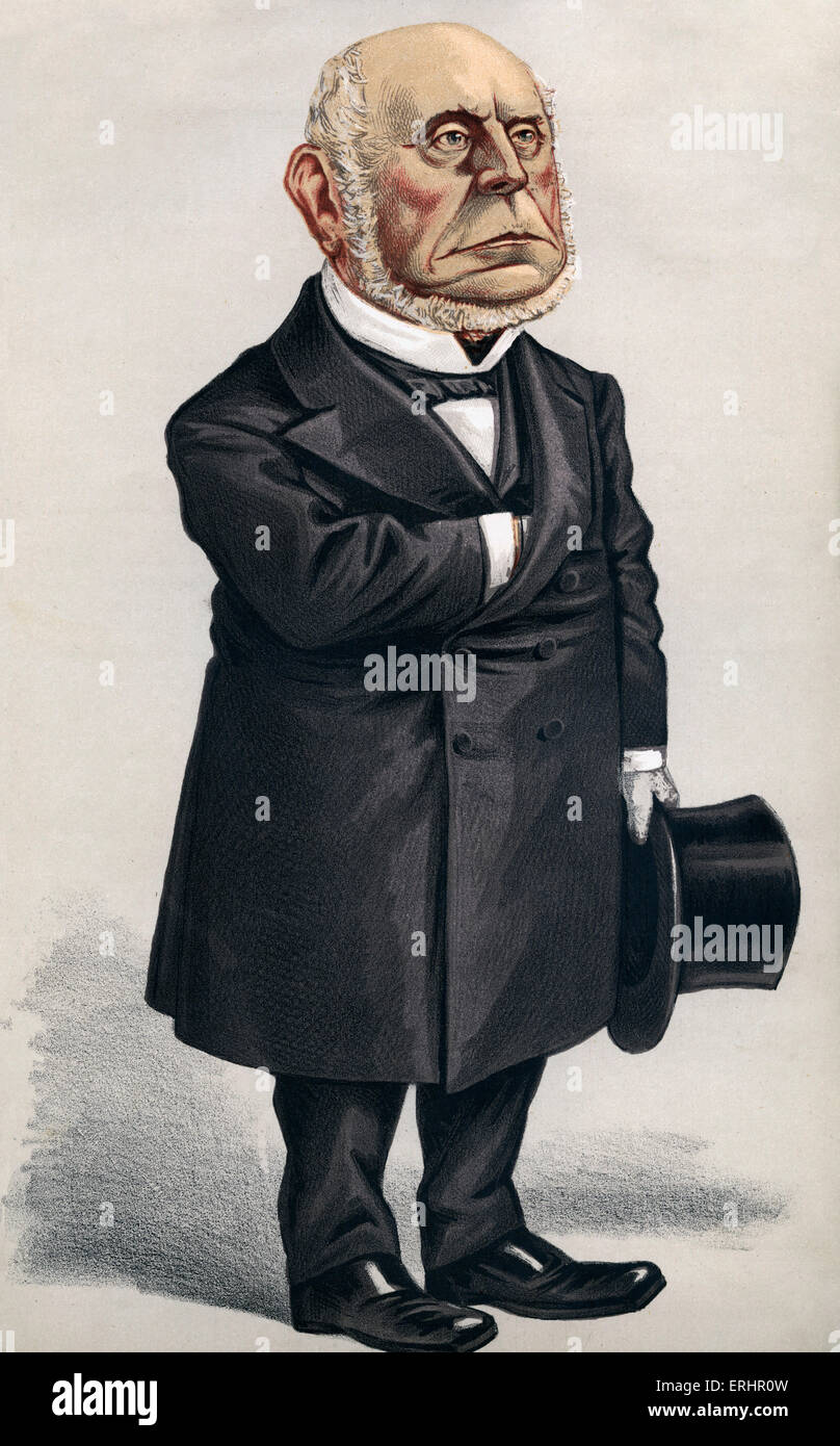 Charles Francis Adams - 5 October 1872.  Cartoon for Vanity Fair. American politician: 18 August 1807 – 21 November - Stock Image