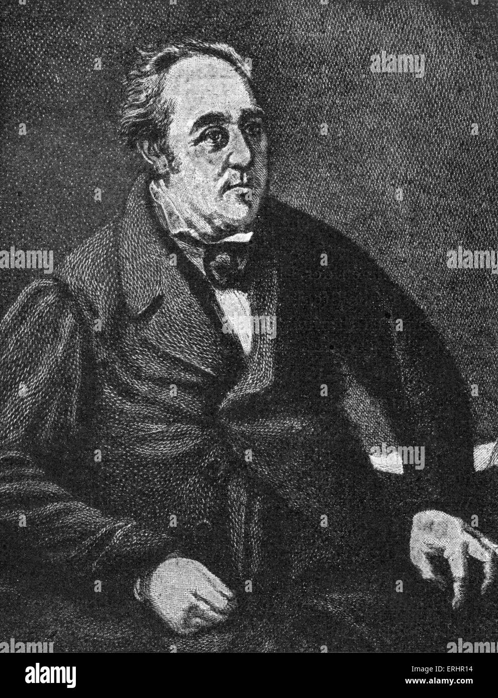 Walter Savage Landor - English writer and poet: 30 January 1775 – 17 September 1864. After a drawing by W. Fisher. - Stock Image