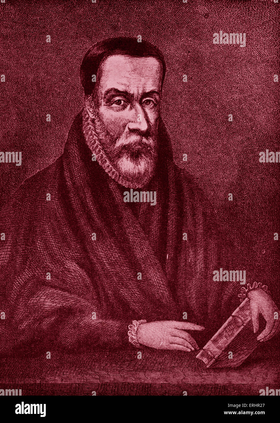 William Tyndale - portrait of the Religious reformer and scholar who  translated the Bible into the Early Modern English of his