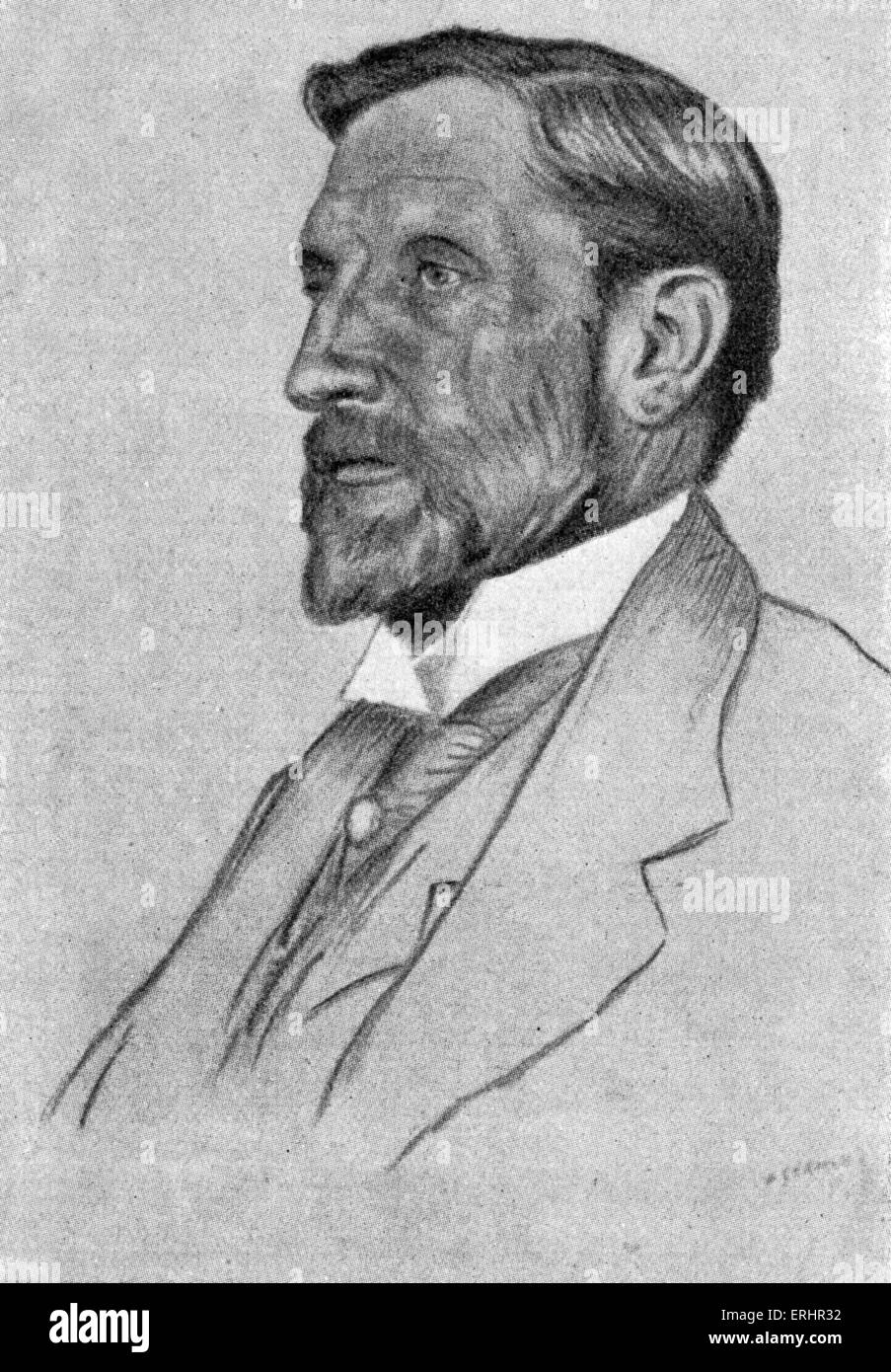 Rider Haggard - writer of adventure novels set in exotic locations, predominantly Africa: 22 June 1856 –  14 May - Stock Image