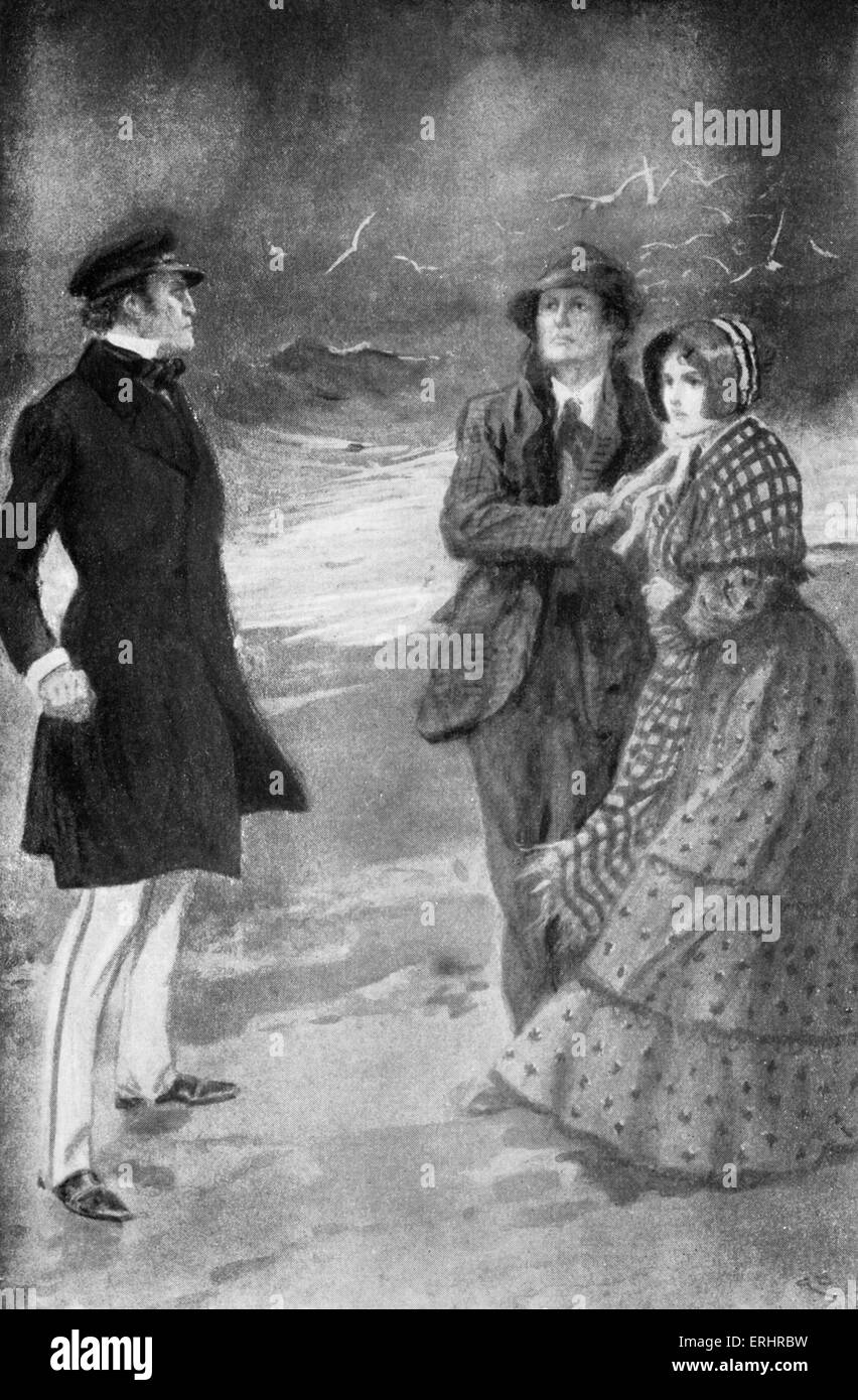 The Pavilion on the Links - short-story by Robert Louis Stevenson first published in 1880. Caption reads: 'That - Stock Image