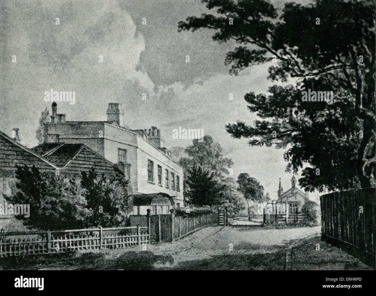 Samuel Johnson's lodging at Hampstead - Where he wrote part of 'Vanity of Human Wishes'.  SJ: English - Stock Image