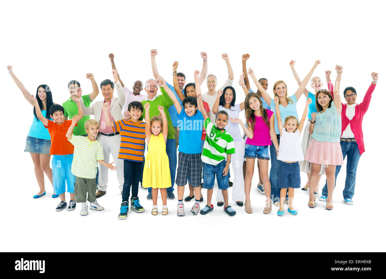 Group of mixed age people - Stock Image