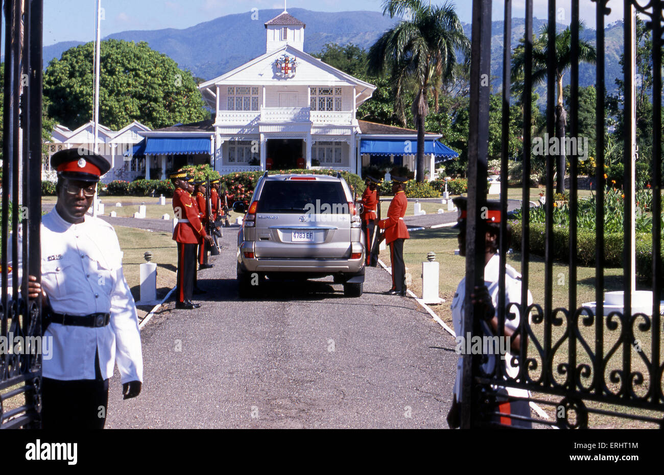 Official Government Residence in Kingston, Jamaica - Stock Image