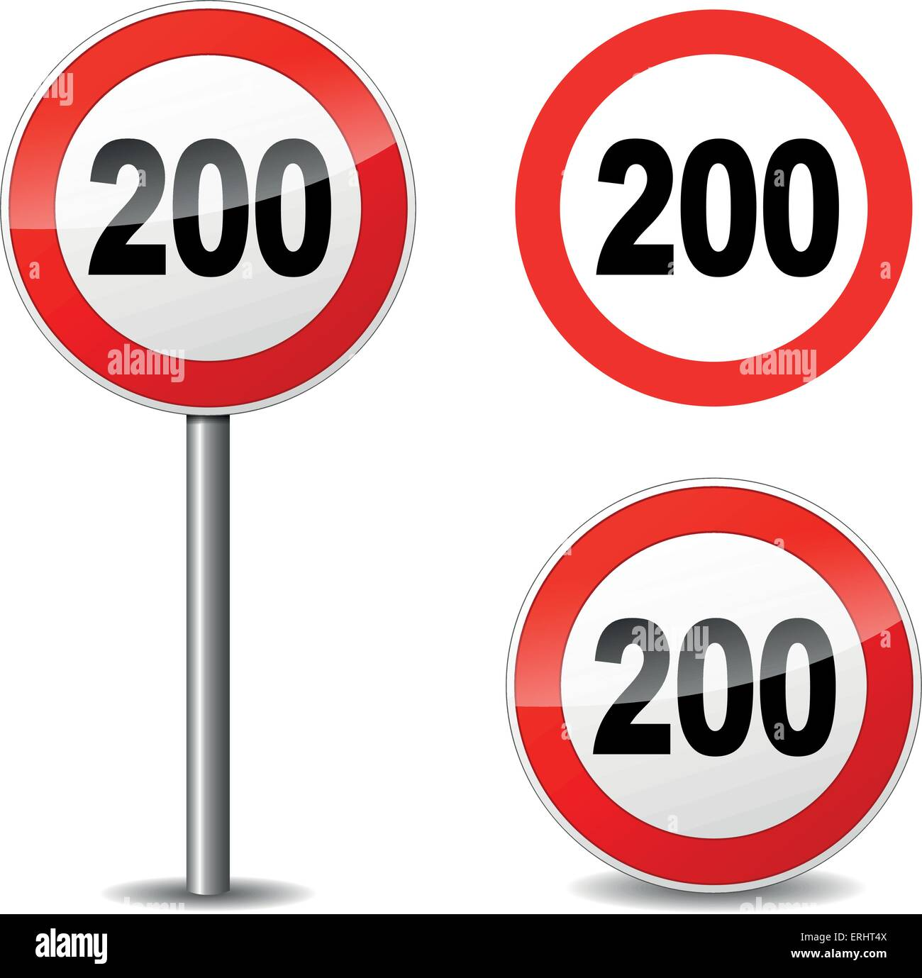 Vector illustration of two hundred sign on white background - Stock Vector