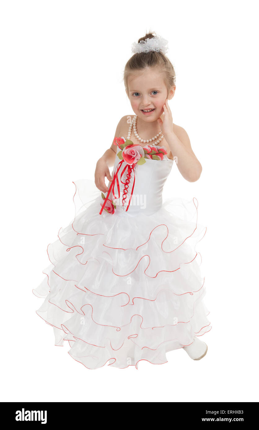 girl in a ball gown isolated Stock Photo