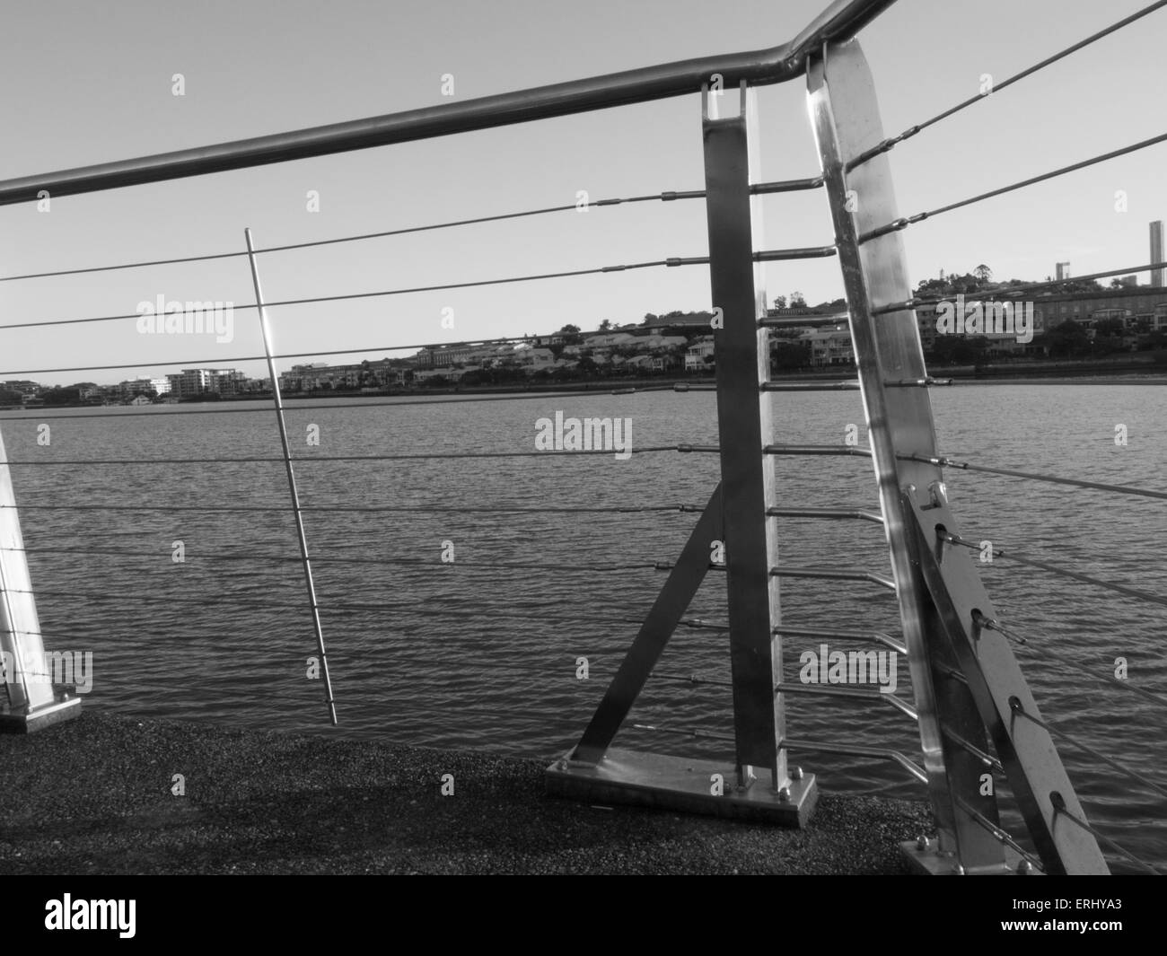 Brisbane River, Bulimba Riverside Park Jetty, Love Street Bulimba, Queensland, Australia, Pacific - Stock Image