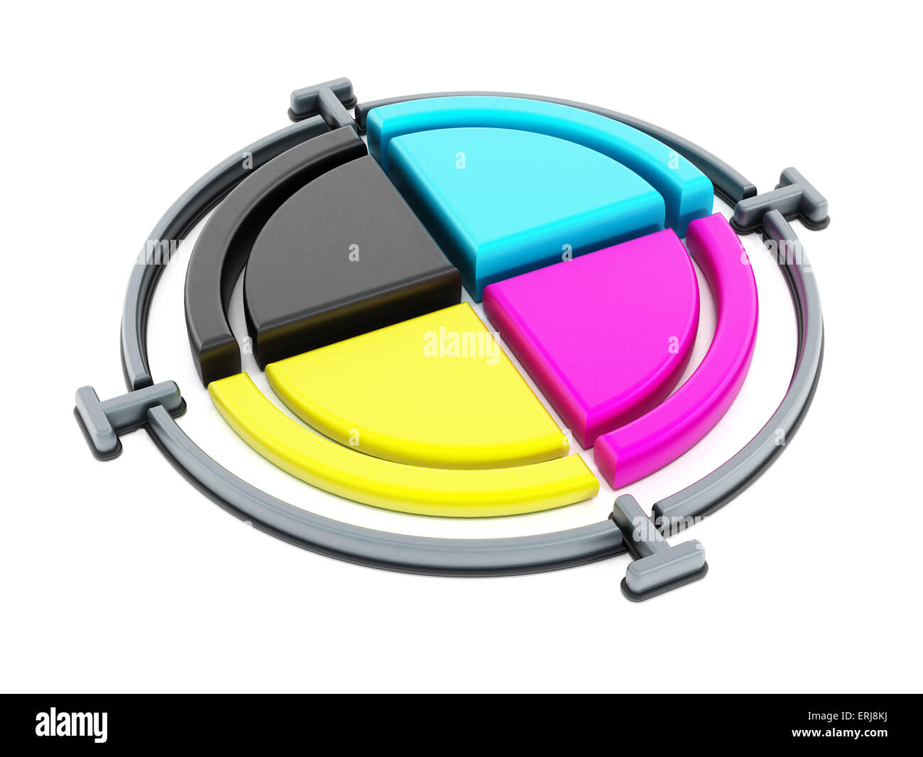 CMYK cross used for printing - Stock Image