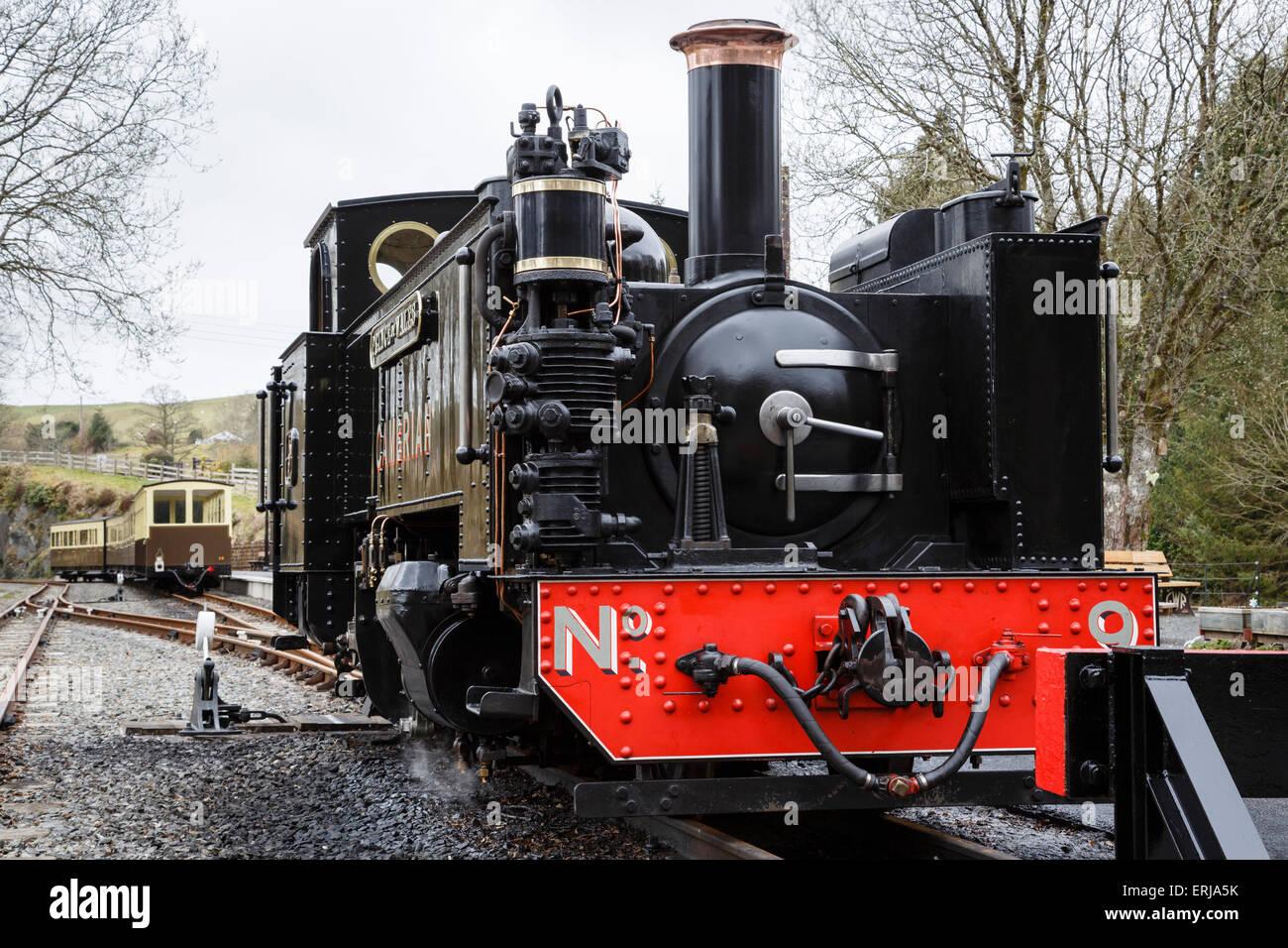 Steam engine Prince of Wales at Devil's Bridge Station, Vale of Rheidol Railway, Ceredigion, Wales - Stock Image