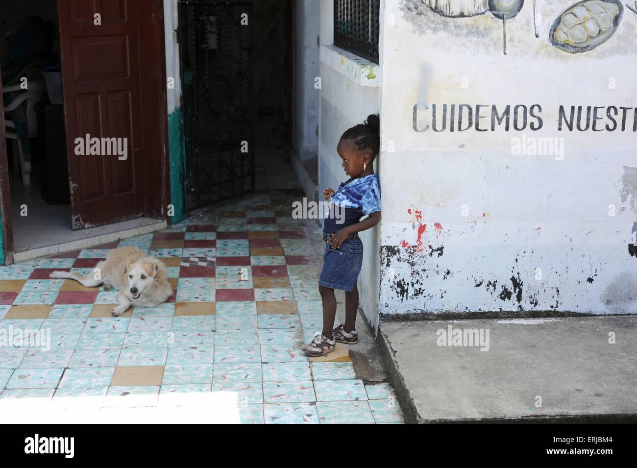 Livingston, Isabal Department in Guatemala. - Stock Image