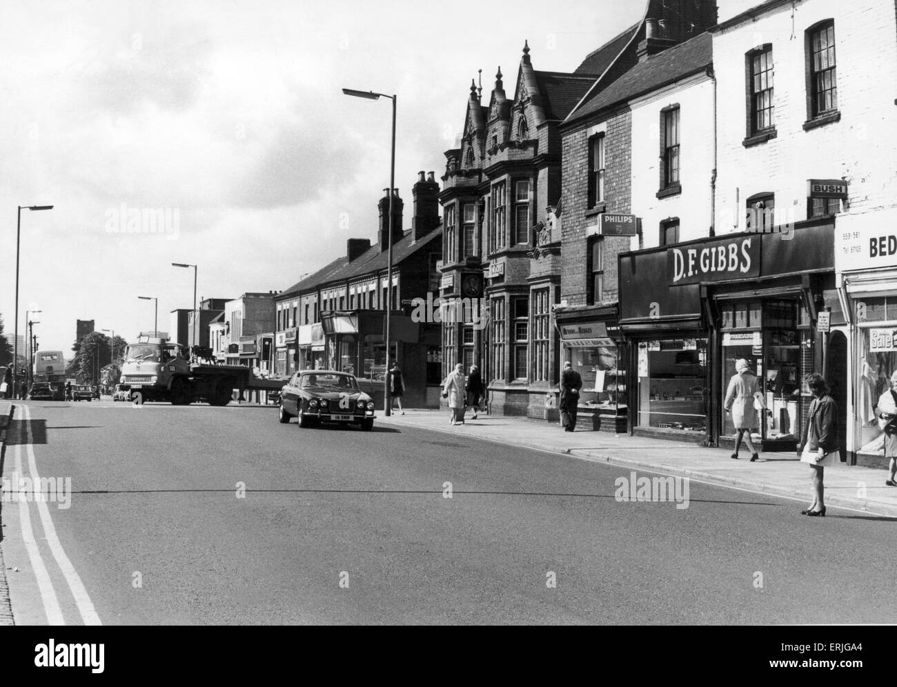 Foleshill Road, Foleshill Coventry 2nd June 1976 - Stock Image