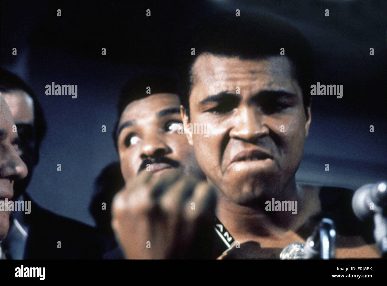 Muhammad Ali at the weigh-in for 2nd fight against Smokin Joe Frazier, to be held at Madison Square Garden in New - Stock Image