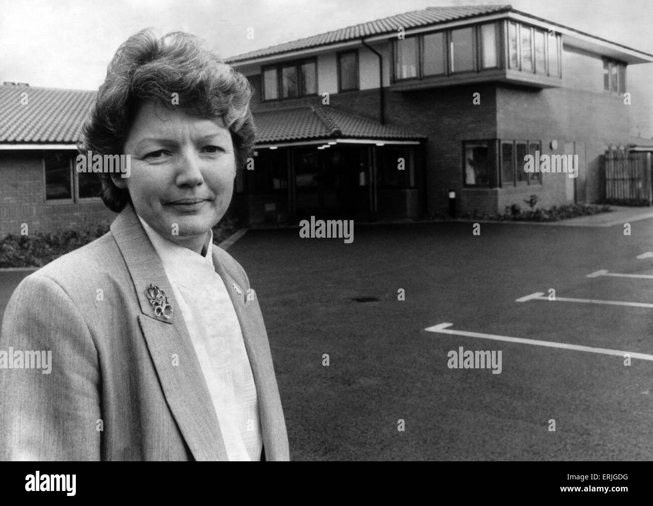 Sally Day, Director of the Acorns Children's Hospice, Oak Tree Lane, Selly Oak, Birmingham, 17th November 1988. - Stock Image