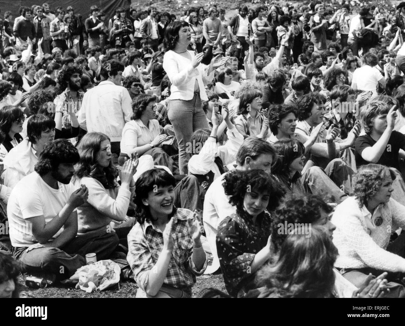 The Loch Lomond Rock Festival, Cameron Wildlife Park, Balloch, Dumbartonshire, Scotland, 27th May 1979. - Stock Image