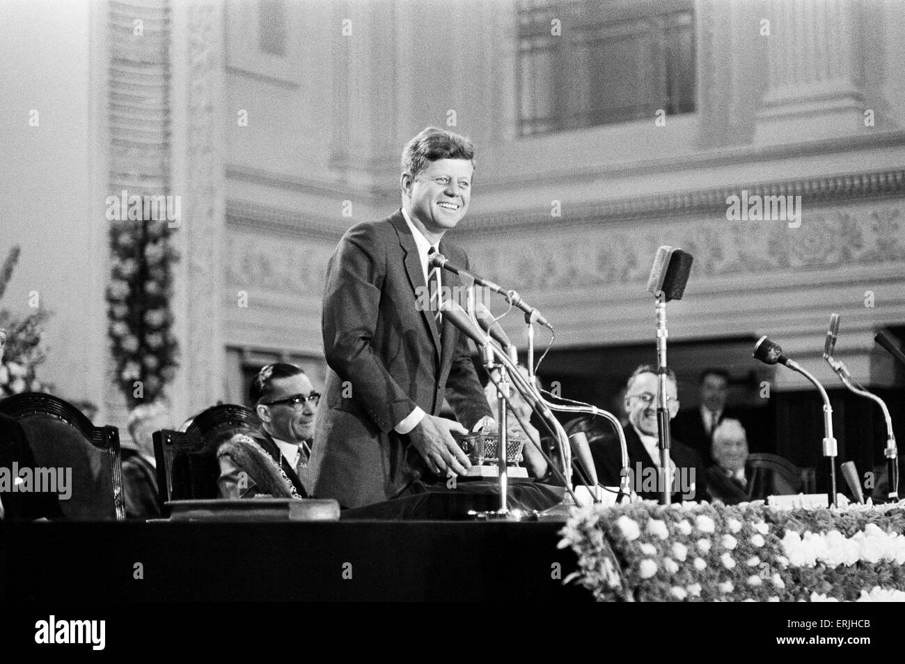 The visit of American President John F Kennedy to Ireland.  July 1963. - Stock Image
