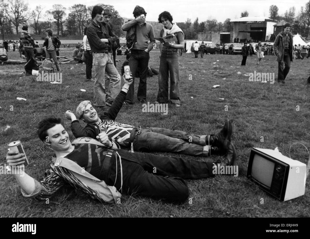 The Loch Lomond Rock Festival, Cameron Wildlife Park, Balloch, Dumbartonshire, Scotland, 26th May 1979. - Stock Image