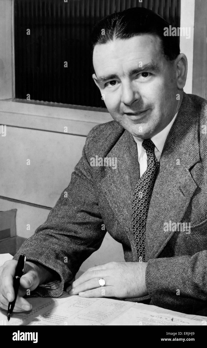 Warwickshire County Cricket Club secretary Leslie Deakins. Circa Agust 1954. - Stock Image