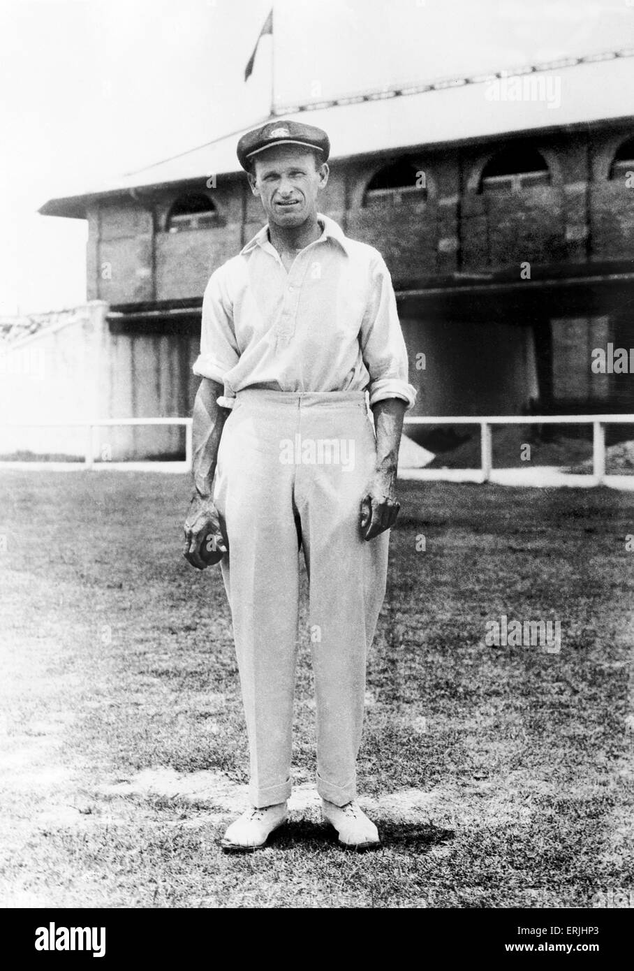 Australian cricketer Clarrie Grimmitt.  2nd March 1925. - Stock Image